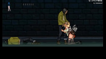 Cute blondie woman hentai in sex with zombie man in adult animated gameplay video