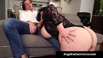 Cuban Export Angelina Castro & Italian Fuck Friend Roberta Gemma Fuck & Suck a Big Cock For Supper until it Milks On Their Huge Tits! Full Video & Live !