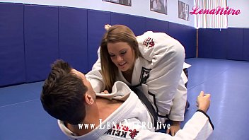 KARATE TEACHER gives experienced BLONDE tutoring at FUCK