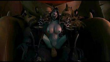 3d porn toon  - Sexy busty dark elf milf gangbanged with three huge cocks - http://toonypip.vip - 3d porn toon