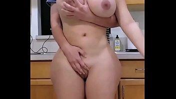 Beautiful big boobs girl ass fuck by boyfriend while standing