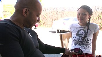 Young girl gets Blackzilla dick stuffing