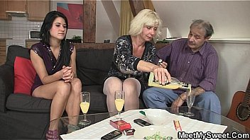Bokep 69 with his mom and riding old dad's cock