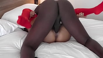 BIG BLACK COCK PUTS A LOAD DEEP INTO HER MARRIED PUSSY