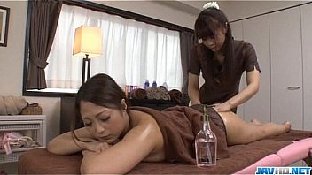 XXX Superb massage session with a lesbian babe for Maika