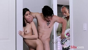 Sister Fucks Brother While Dad Works