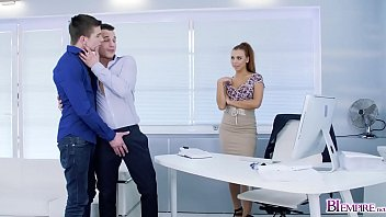 Ornella Morgan joins Pavlos and Michael Tovis Bi sex as they share this Bi cock!