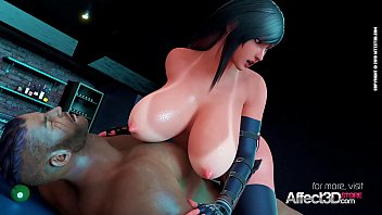 Huge tits babe enjoying anal sex with a black dude in a bar