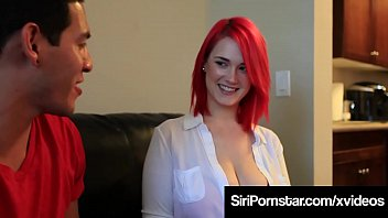 Redheaded love goddess, Siri Pornstar, spreads her thick thighs to get her curvy cunt packed by a lucky cum squirting cock!
