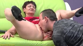 Bokep horny 82 years old granny gets rough doggystyle fucked by her young strong cock toyboy