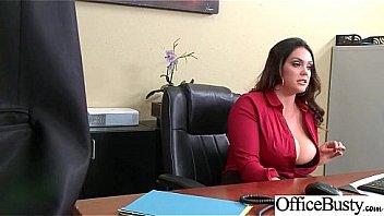Alison in Big busty boobs at office