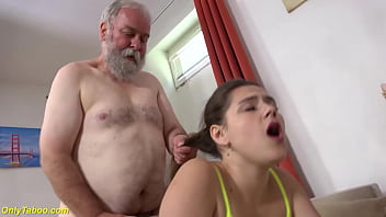 horny grandpas dreams comes true in his first fucking lesson with his cute stepgranddaughter