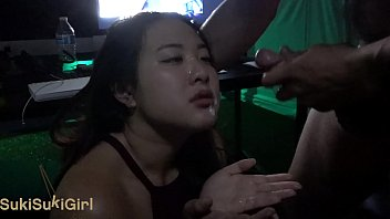 asian girl sucks the soul out of him