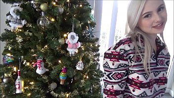 Christmas Sex With Tiny Blonde Step Sister