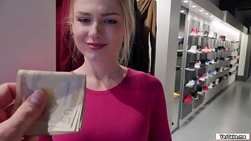 Bokep Russian sales attendant sucks dick in the fitting room for a grand