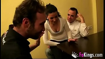 Gipsy teen enjoys a hot threesome with two muscle dudes