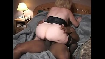 Bokep Black and white studs bang hot mature Kitty Foxx on the bed