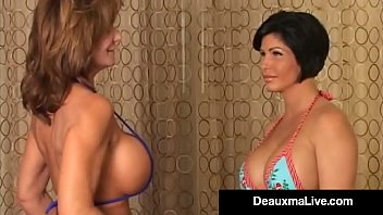 Nonton Bokep American Cougar Deauxma Compares Boobs with California Hottie Shay Fox but they both take it a little too far & end up in a Big Breasted Cat Fight! Full Video &  Live @DeauxmaLive.com!