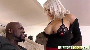 Big Tits MILF Seducing Married Black Guy