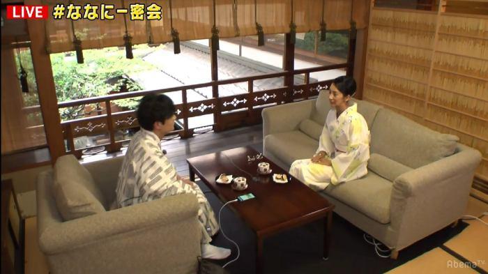 稲垣吾郎、中村江里子(C)AbemaTV