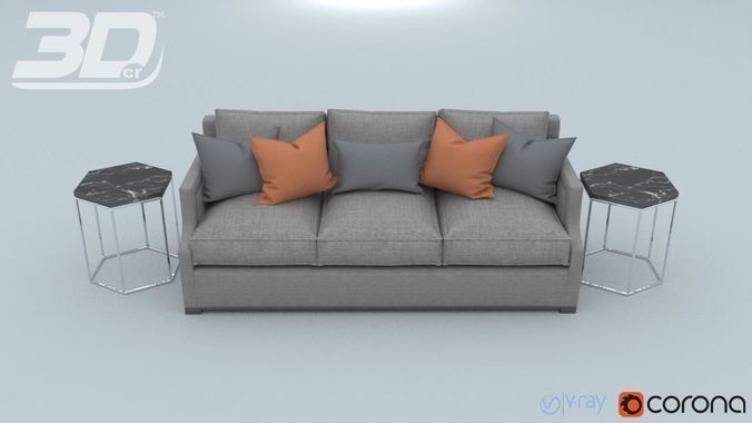 mega sofa large covers cheap and chair collection max obj mtl fbx 3d model 12