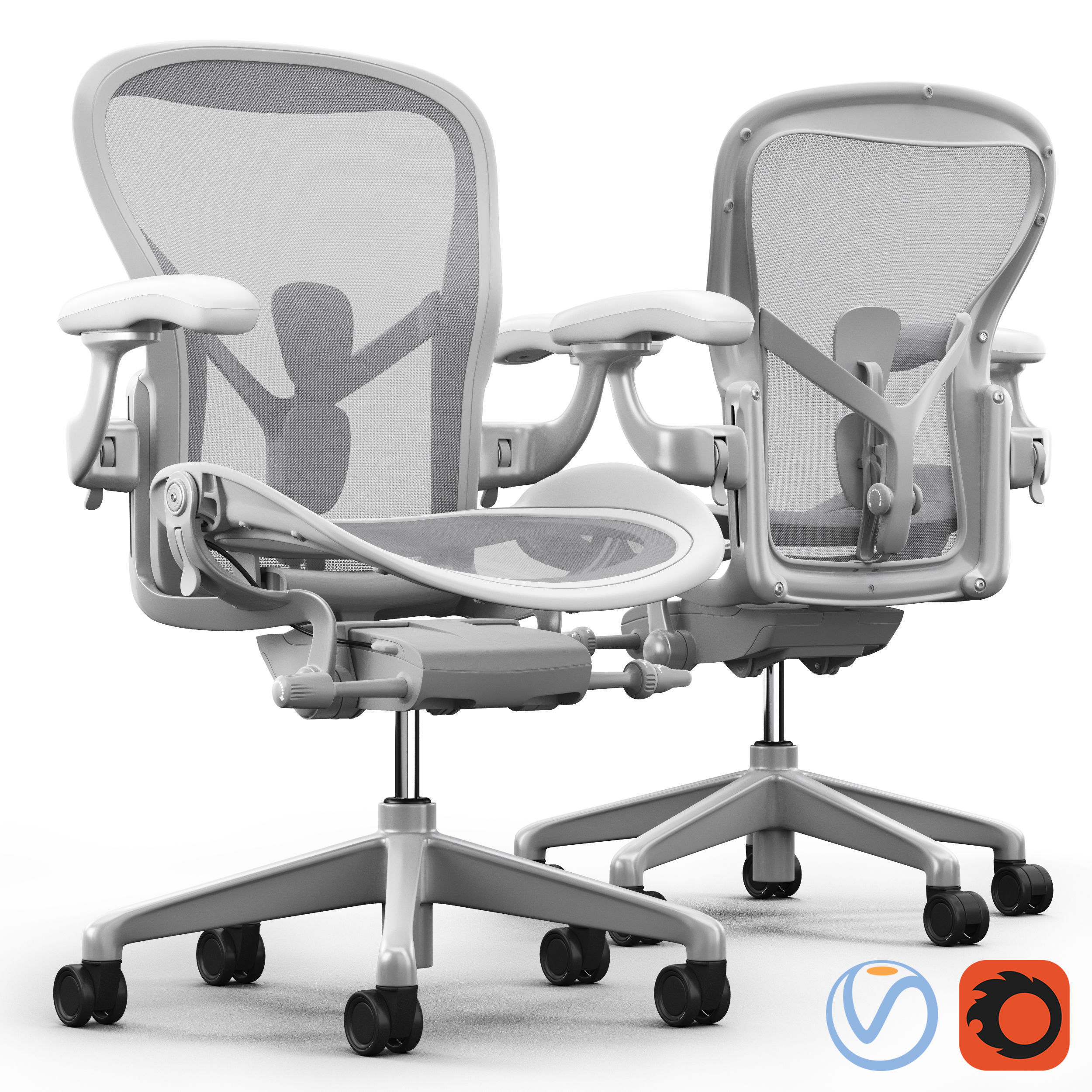 office chair herman miller aeron cover hire midlothian 3d model cgtrader
