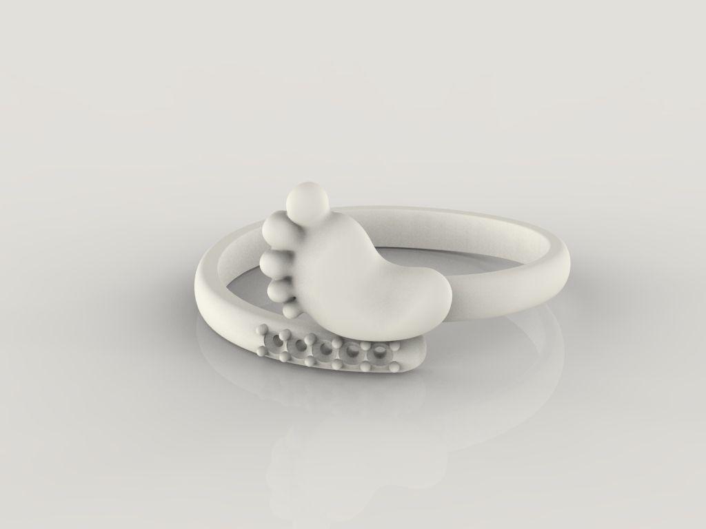 Baby foot Ring STL 7 sizes 3D Model 3D printable stl  CGTradercom