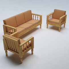 Sofa Set Models In India Queen Sleeper Value City Wooden 3d | Cgtrader