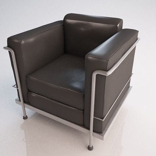 le corbusier chair white foldable chairs nz 3d cgtrader model