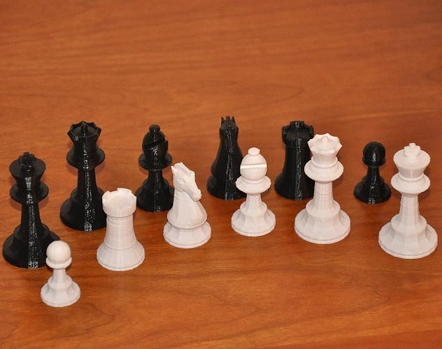 3D Print Model GlChess Chess Set 2 CGTrader