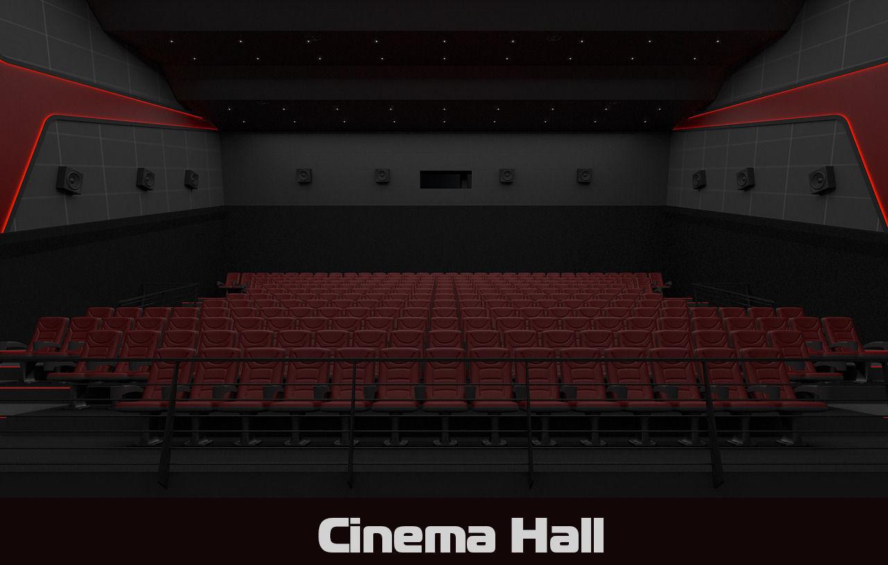 Cinema hall 3d model 3D Model max obj fbx  CGTradercom