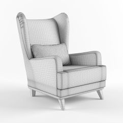 Armchair Pillow Small Lounge Chairs With Headrest And 3d Model Max Obj Fbx