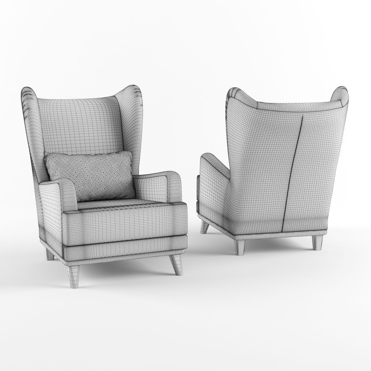 armchair pillow joovy portable high chair with headrest and 3d model max obj fbx