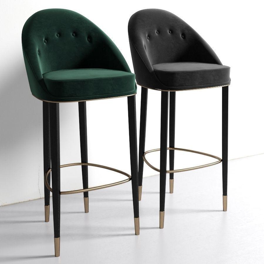 Brabbu Malay Bar Chair 3D Model MAX OBJ FBX MTL  CGTradercom