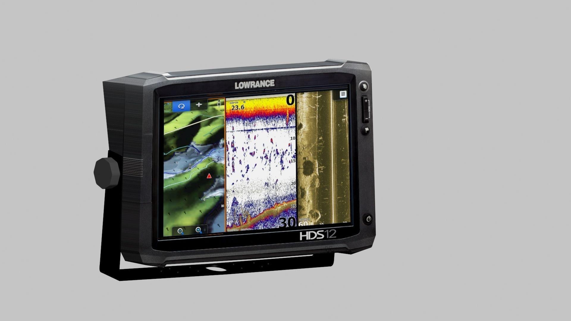 Lowrance Fish Finder 3D Model max  CGTradercom
