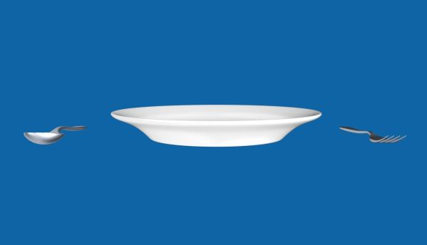 Plate With Fork And Spoon 3d Model .obj .blend .mtl