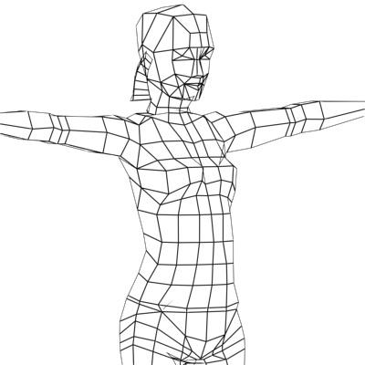 lap dance aneta real time low poly game 3D Models