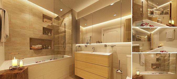 3D model Master bathroom  CGTrader