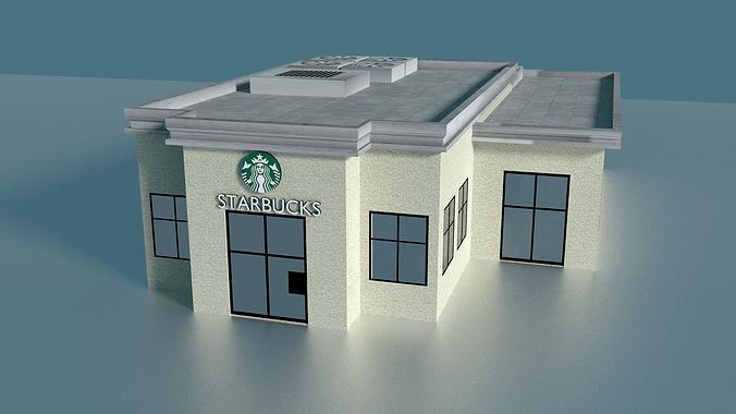 Starbucks Building 3D Model CGTrader