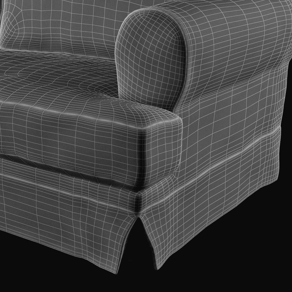 ikea ekeskog sofa for sale designer leather corner sofas uk 3d model max cgtrader