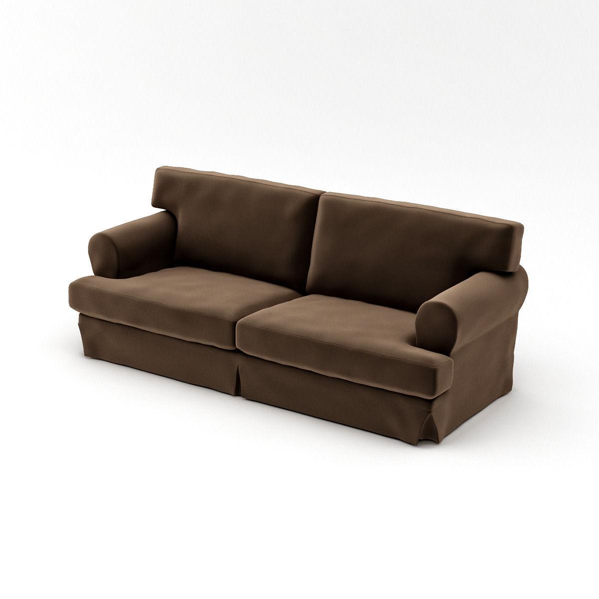ikea ekeskog sofa for sale living room furniture dark grey sofas 3d model max cgtrader