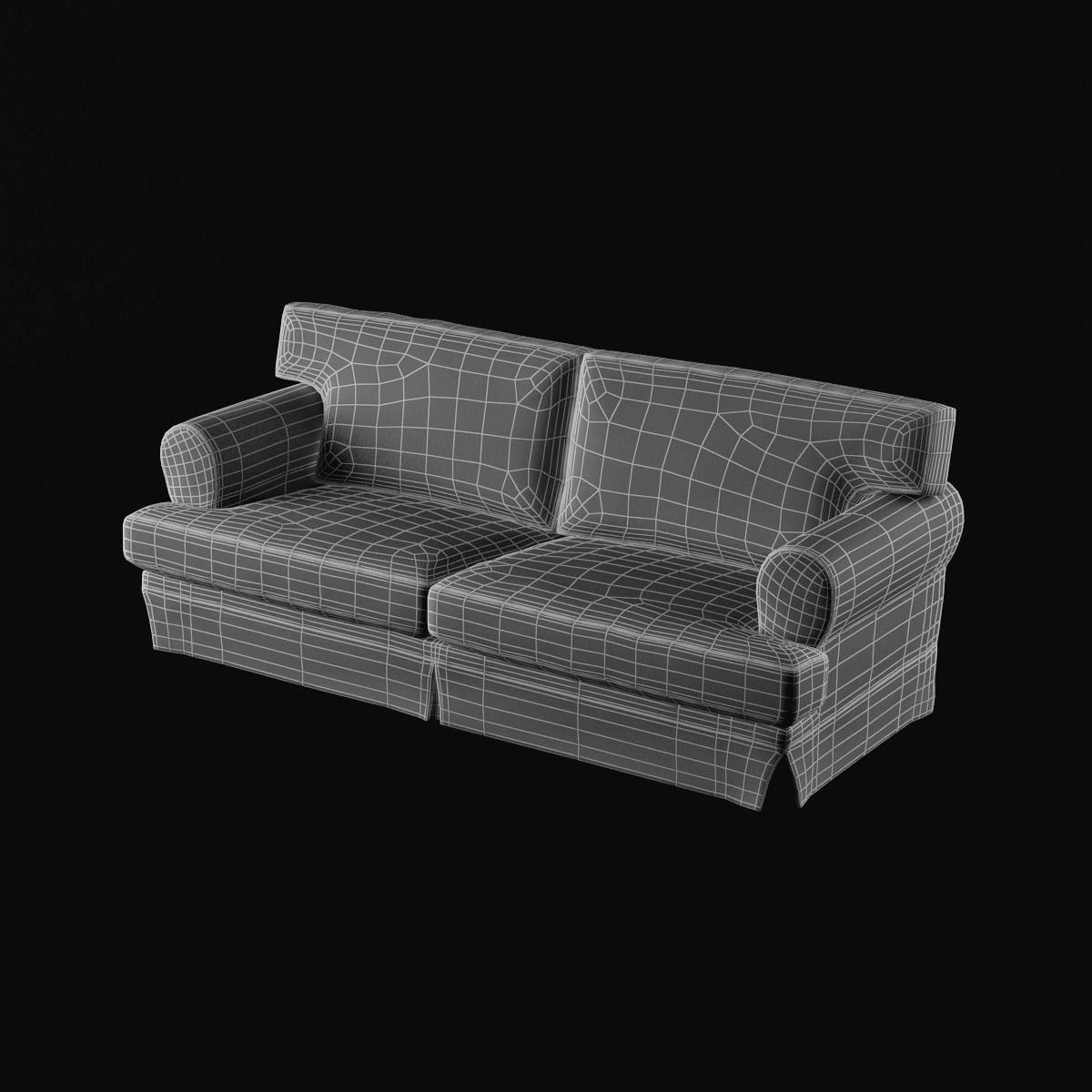 ikea ekeskog sofa for sale sefton manual 3 seater recliner black 3d model max cgtrader