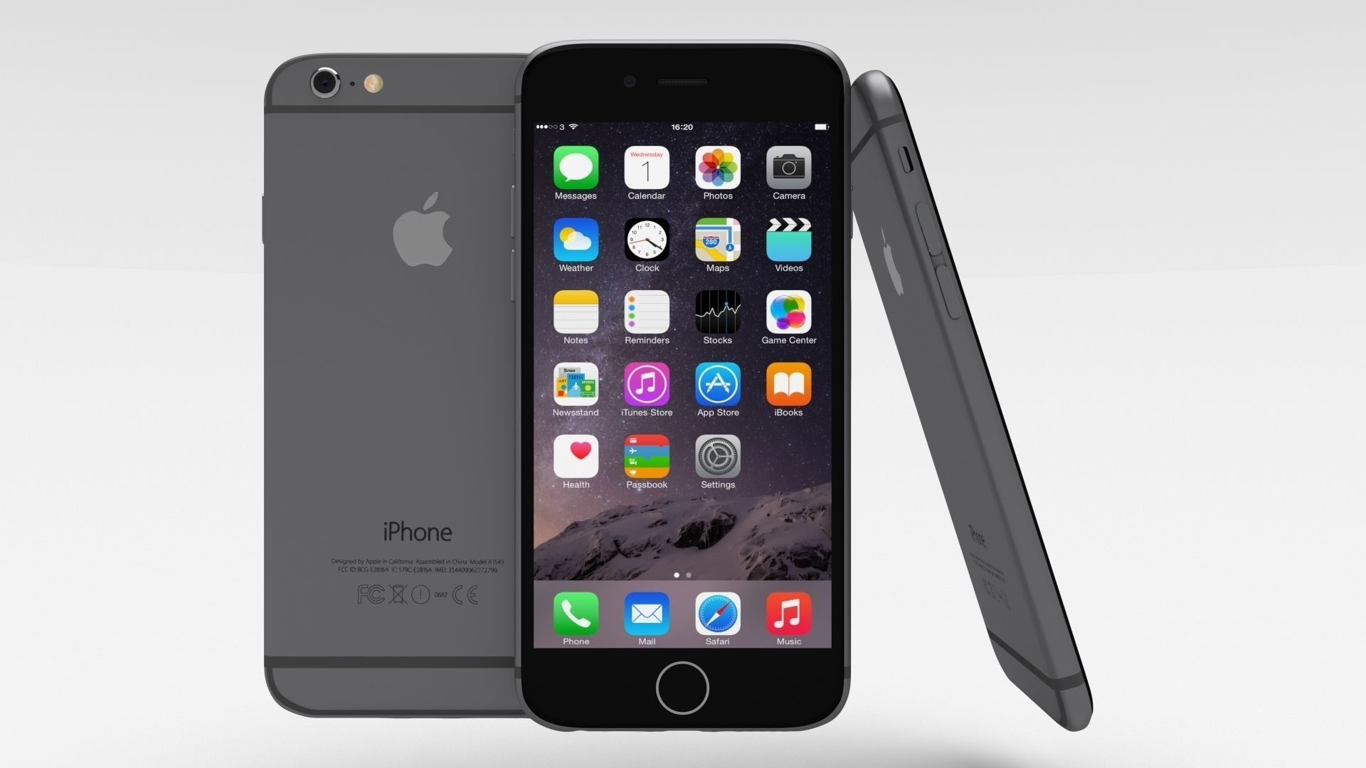 3D Asset IPhone 6 Space Grey CGTrader