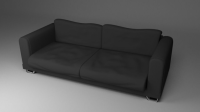 Black Fabric Couch Sofa 3D Model .obj .fbx .blend .dae ...
