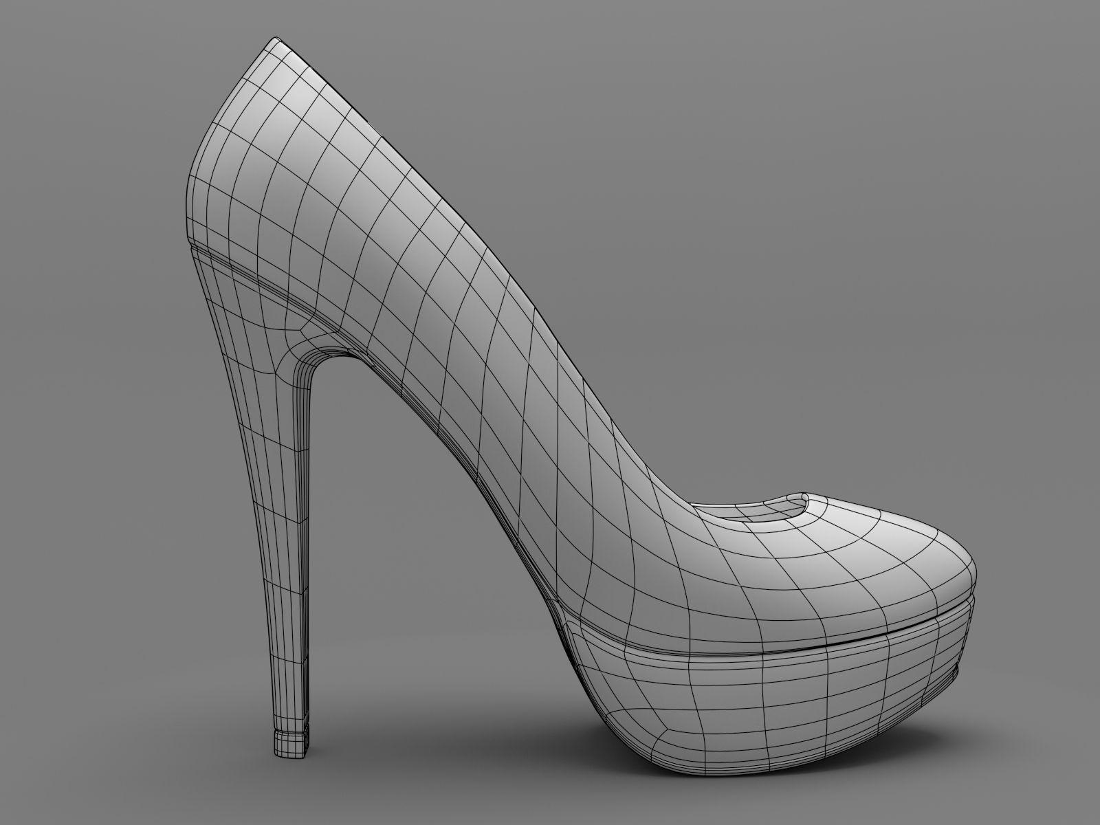 high heel shoe chair value city white outdoor lounge mini heels 3d model printable obj stl cgtrader