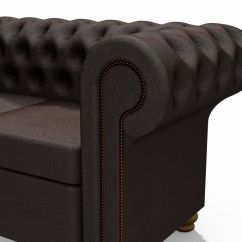 Tribecca Home Knightsbridge Beige Linen Tufted Scroll Arm Chesterfield Sofa Short Order New York Times Free Brown Bonded Leather