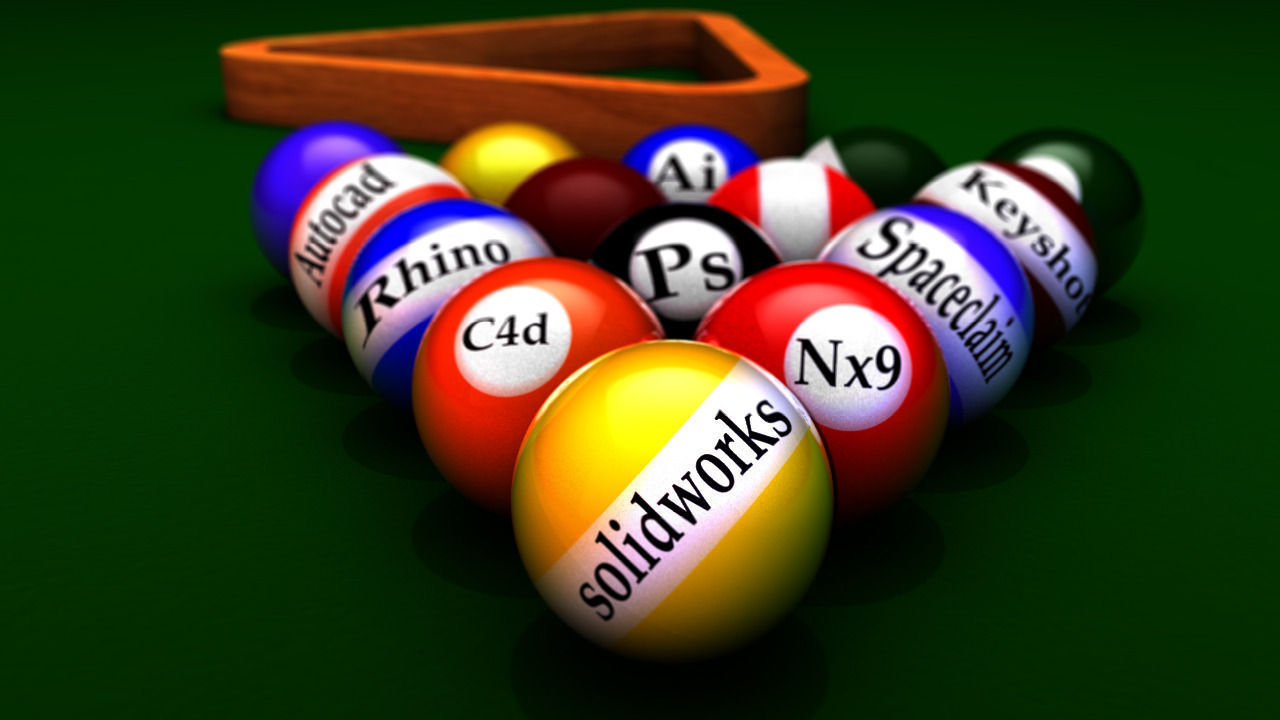 cinema billiard balls 3d model | cgtrader