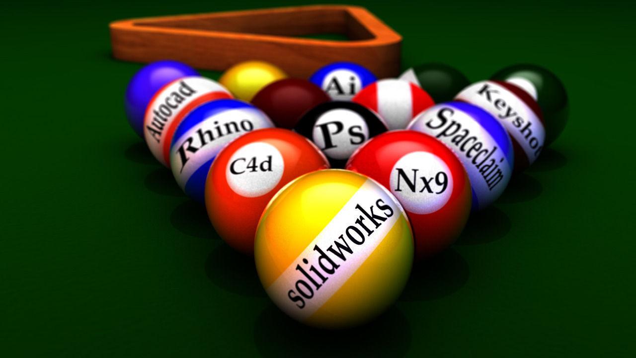 cinema billiard balls 3d model   cgtrader