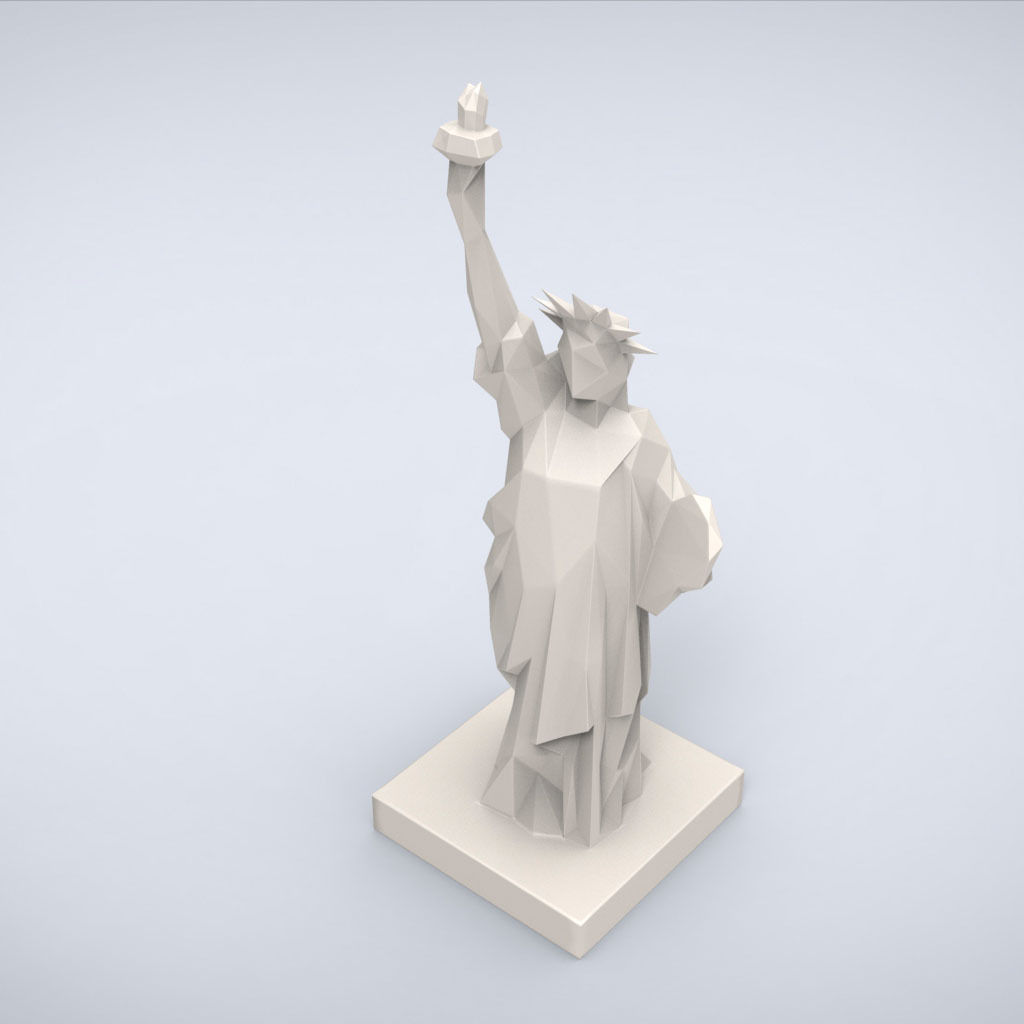 Printable Statue Of Liberty Lowpoly Style 3d Model 3d