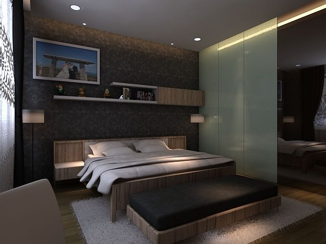 Master bedroom 3D model MAX